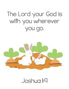 BFIAR - The Runaway Bunny Bible Verse Printable (Joshua 1:9) FREEBIE!  Visit www.littlelearninglane.com for more fun ideas & FREE printables!