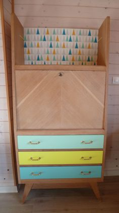 Relooking meuble vintage on pinterest commode vintage buffet and bureaus - Relooking meuble vintage ...
