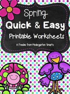 These are a sample from my Spring Math and Literacy Unit. Spring Math and Literacy Centers Spring free: These are 3 pages of math and literacy worksheets for Color Worksheets For Preschool, Free Kindergarten Worksheets, Kindergarten Centers, Printable Worksheets, Literacy Centers, Kindergarten Curriculum, Kids Worksheets, Free Printables, Math Pages