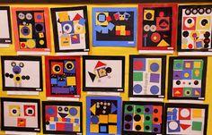 Kindergarten Geometric Shape Collages