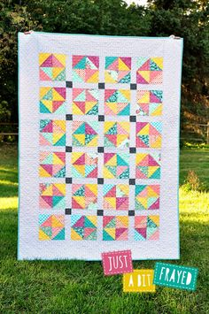 Sweet Diamonds Quilt by just a bit frayed