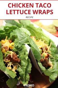 Chicken Taco Lettuce Wraps are a great alternative to regular tacos, and they taste just as good...if not better- Premio Foods #recipe #tacos #sausage