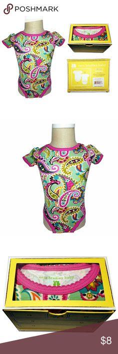 Vera Bradley Baby Bodysuit in Tutti Frutti Vera Bradley Baby Bodysuit in Tutti Frutti  Size 6-9 months  100% Cotton  Machine wash warm/ Wash before use  Brand New Vera Bradley One Pieces Bodysuits