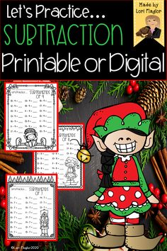 Do your students need extra practice with their subtraction facts? This 10 page ready to Print N Go resource will reinforce these basic facts in an adorable Christmas themed format. Ready to print and go. Addition Activities, Addition Games, Addition Worksheets, Addition Chart, Addition And Subtraction, Christmas Activities, Christmas Themes, Subtraction Activities, Math Lessons