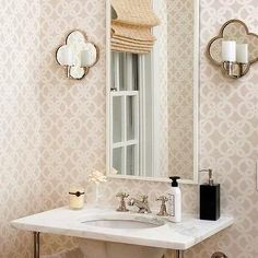 Waterworks Lawson Wall Mounted Clover Arm Mirror Sconce