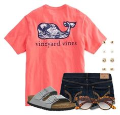 """I really want this shirt"" by flroasburn ❤ liked on Polyvore featuring Hollister Co., Birkenstock, H&M and Forever 21"