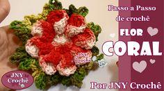 PAP de crochê Flor Coral https://www.youtube.com/watch?v=cJZCgzfK-VQ