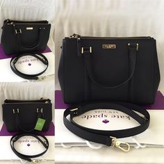 """ALMOST SOLD OUT Kate Spade Newbury Loden Small ✨Brand New With Tag and Bag, Guarantee Authentic✨Also available in white and pink• pls check out my closet if interested.  ONLY $175 on Vinted!!  Size: Small Details: Satchel with snap closure and an adjustable, removable strap Dual interior slide pockets, two zipper, compartments, and interior zipper pocket Gold Kate Spade New York signature 8.2x10.9x4.7  drop length 4.3"""" handle  14 karat light gold hardware kate spade Bags Satchels"""