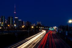 Lakeshore Light Trails by Ted Kaiser on 500px