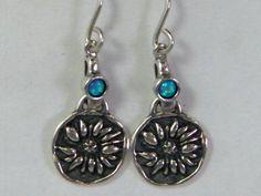 Ethnic sterling silver #earrings Dangling silver earrings