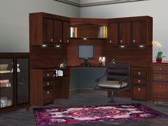 Corner Office by Flovv - Sims 3 Downloads CC Caboodle