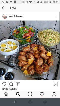 bom almoço Lean Meals, No Cook Meals, Pork Recipes, Cooking Recipes, Healthy Recipes, Healthy Meal Prep, Healthy Eating, Comidas Light, Food Porn