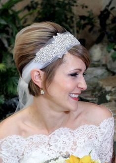 Wedding Headpiece BONNIE Great Gatsby by BellaCescaBoutique, $54.00