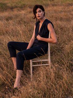 Model Kiersten Dolbec sit on the chair Photoshoot 2015