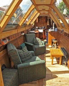 Barge Interior, Yacht Interior, Interior Design, Narrowboat Interiors, House Boat Interiors, Canal Boat Interior, Houseboat Living, Floating House, Boat Design