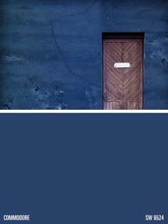 Sherwin-Williams blue paint color – Commodore (SW 6524)