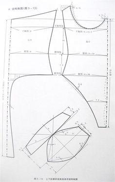 Teddy / thong bodysuit pattern