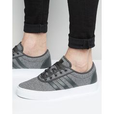 adidas Originals Adi-Ease Sneakers In Gray F37838 ($70) ❤ liked on Polyvore featuring men's fashion, men's shoes, men's sneakers, grey, mens lace up shoes, mens grey shoes, mens grey sneakers and mens gray dress shoes