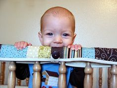 Crib Teething Guard. done! i used fabric iron on tape though- wasn't in the mood for sewing.