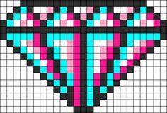 3D Diamond Perler Bead Pattern / Bead Sprite