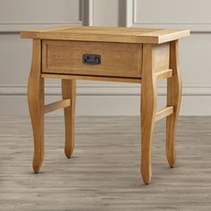 "Three Posts Spencer 1 Drawer End Table | Wayfair - 24.02"" H x 24.02"" W x 17.99"" D (collection!)"