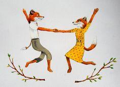Fantastic Mr Fox print Mr and Mrs Fox