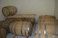 some casks filled with fine Kymsee whisky