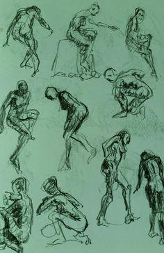 Pierre Halé figure drawings.