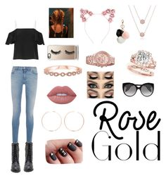 """""""Rose gold girl"""" by abbiegailprice ❤ liked on Polyvore featuring Fendi, Givenchy, Alexander McQueen, Casetify, GUESS, Anita Ko and Lime Crime"""