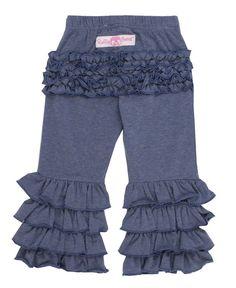 0c3e27c1d0 RuffleButts Baby Toddler Girls Faux Denim Stretchy Flare Pants w Ruffles  612m  gt