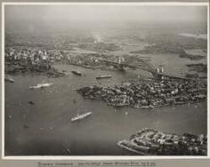 Ships surrounding Sydney Harbour and Sydney Harbour Bridge taken from Neutral Bay, 19 March 1932 [picture]