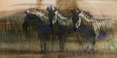 Zebra Dusk - Endangered Species Original Artwork by A E London