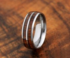 Diamonds needed maybe?? Koa Wood Ring