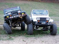 haha my jeep can crawl all over your jeep!! =p