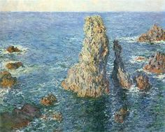 Rochers à Belle-île, 1887;Claude Monet