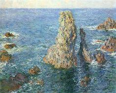 Rochers à Belle-île, 1887;Claude Monet