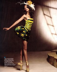 perfection  on pointe zoe saldana for instyle magazine--remember when she was in center stage @Meredith Landers