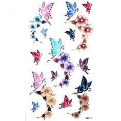 GGSELL King Horse Cute sexy tattoo stickers waterproof female color butterfly roses >>> You can find more details by visiting the image link. Note:It is Affiliate Link to Amazon.
