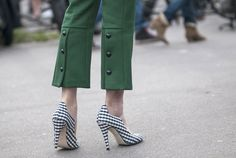 Preppy Trousers at Paris Fashion Week Fall 2013 - Street Style at Fall 2013 Paris Fashion Week - Marie Claire