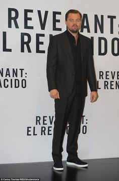 Handsome star:Leonardo DiCaprio continues to blaze the promotional trail with the critically-acclaimed epic - this time with his publicity tour landing him in Mexico on Tuesday