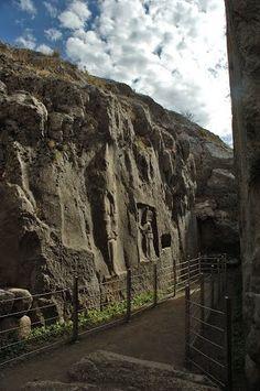 Yazılıkaya, Rock-Cut Statues of the Hittite Civilization, Boğazkale in Çorum (Turkey)
