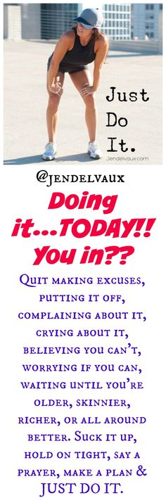 PIN THIS!   Let's do this, fit family! www.facebook.com/jenddelvaux #jendelvaux