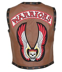 The Warriors Movie Brown Faux Leather Vest (3X-Large)