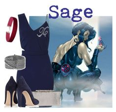 """""""Sage"""" by claudialogan ❤ liked on Polyvore featuring Miss Selfridge, Jimmy Choo, Gianvito Rossi, BERRICLE and David Yurman"""