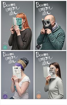 Clever reading campaign...print for reading corner.