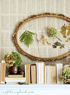 Craftberry Bush: Seasons of the Home - Fall Mantel 2013, dictionary pages on a plywood background