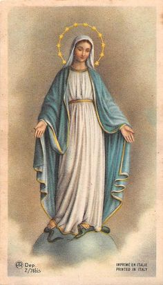 Our Lady of Grace Religious Pictures, Jesus Pictures, Religious Icons, Religious Art, Catholic Prayers, Catholic Art, Catholic Saints, Blessed Mother Mary, Divine Mother