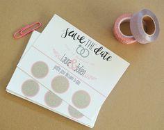 Save the date Carte à gratter personnalisable : Cartes par little-pop-studio