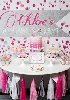 Good Pink Hearts Dessert Table
