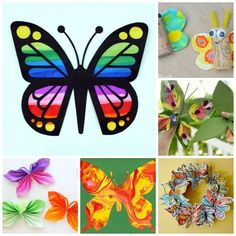 35 Butterfly Crafts - these butterfly crafts are so bright and colourful and a great way to welcome Spring and to make right through the Summer! So many great ideas for all the different age groups - the only tricky thing will be to decide which butterfly craft to make first!